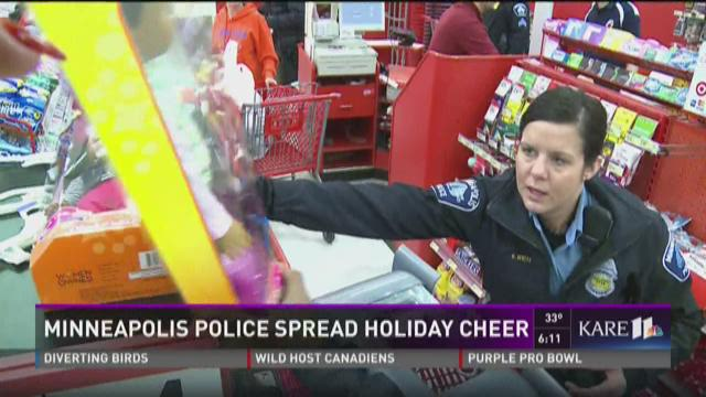 Minneapolis Police from the Fourth Precinct delivered