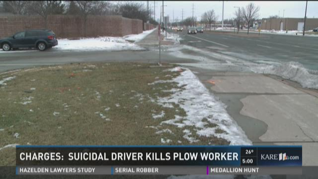 Driver who hit public works employee was suicidal