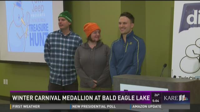 Winter Carnival medallion found at Bald Eagle Lake