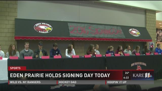 Eden Prairie holds signing day a day late