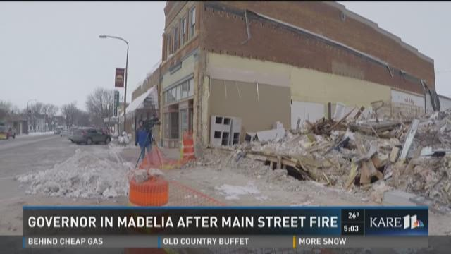 Governor in Madelia after Main Street fire