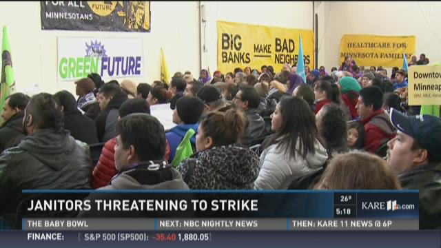 Janitors threatening to strike