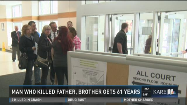Man who killed father, brother gets 61 years