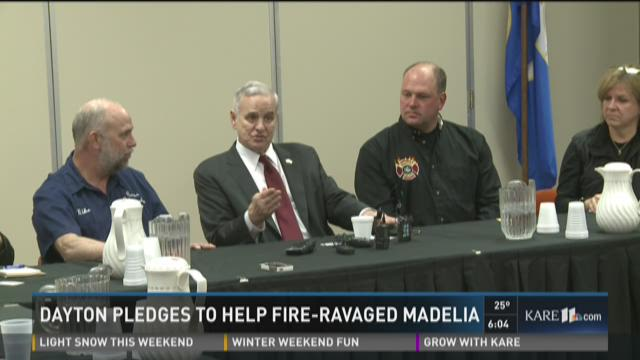 Governor Dayton promises to help Madelia