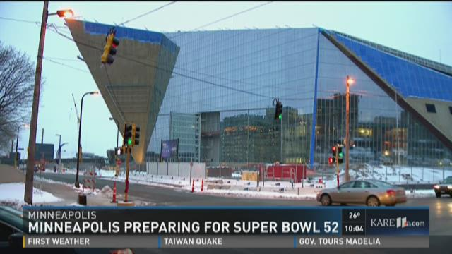 Minneapolis preparing for Super Bowl 52