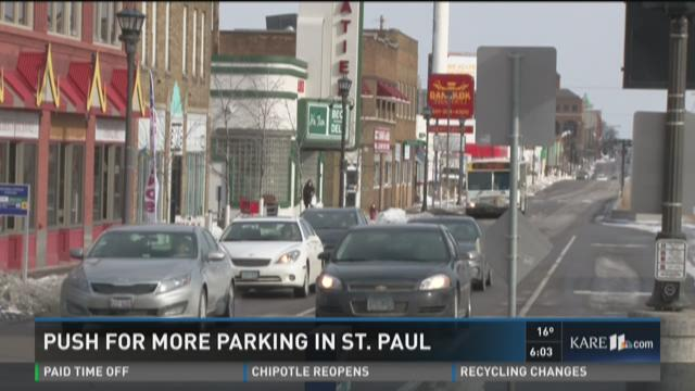 Push for more parking in St. Paul