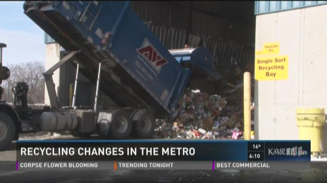 Recycling changes in the metro