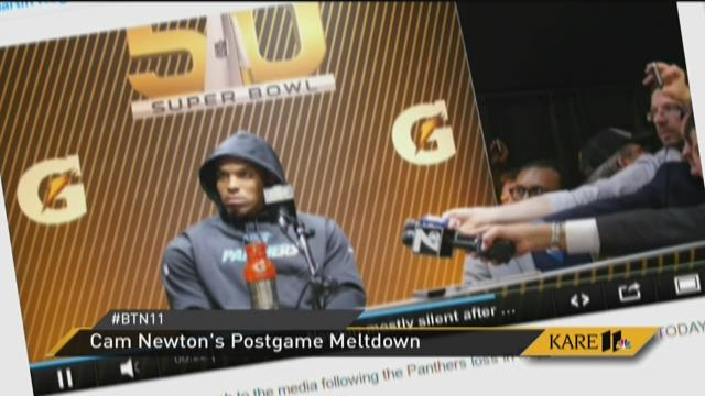 Cam Newton quits post-game interview