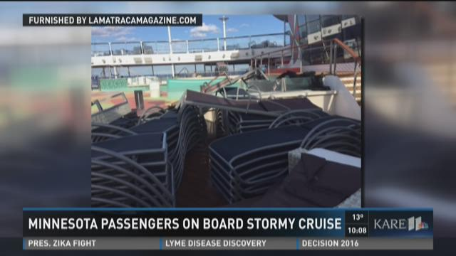 MN passengers on stormy cruise