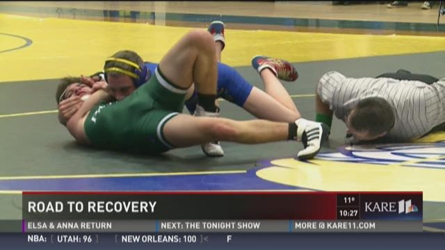 Local wrestler's road to recovery