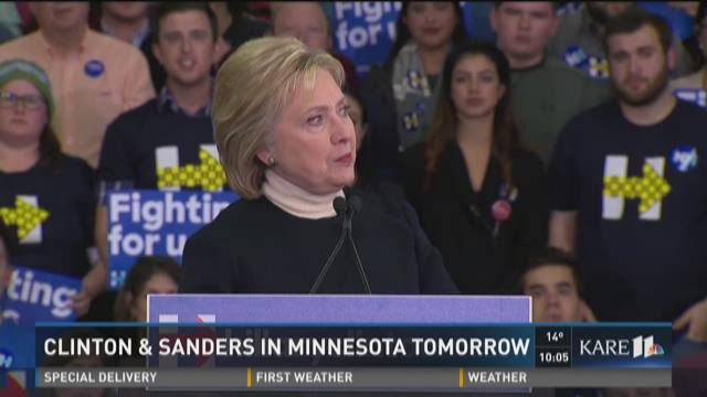 Clinton and Sanders in MN Friday