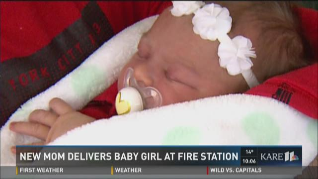 Mom delivers baby at fire station
