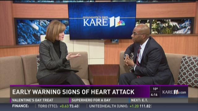 Early warning signs of heart attack