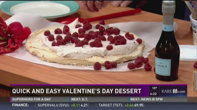 Quick and easy Valentine's Day dessert