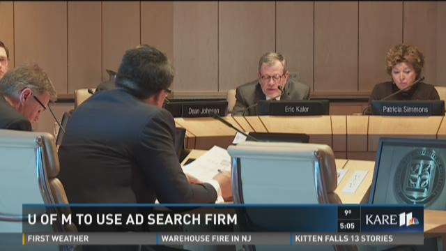 U of M to use AD search firm