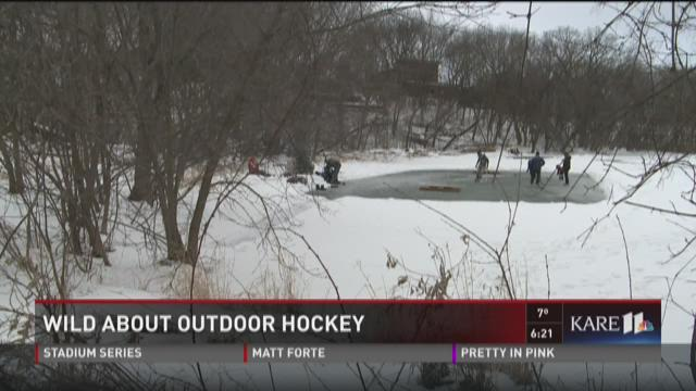 Wild about outdoor hockey: Pond hockey