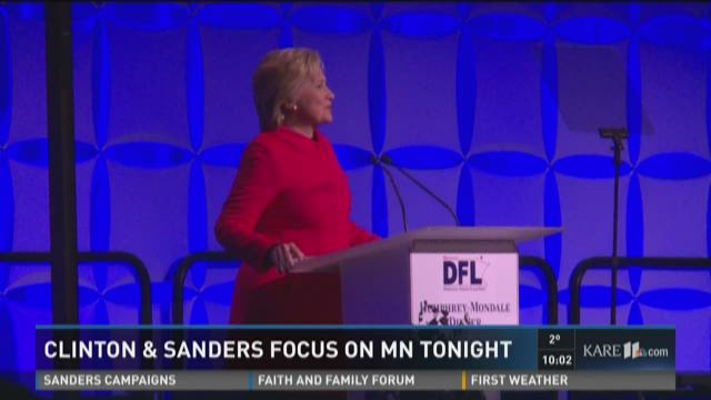 Clinton and Sanders focus on Minnesota