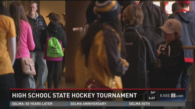 Fans flock to Xcel for boys state hockey tourney