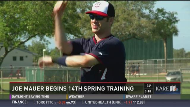 Joe Mauer begins 14th spring training for Twins