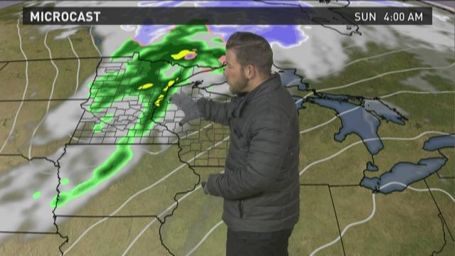Wisconsin weather forecast for Friday, March 27