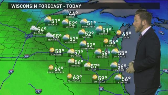 Wisconsin weather forecast for Monday, March 30