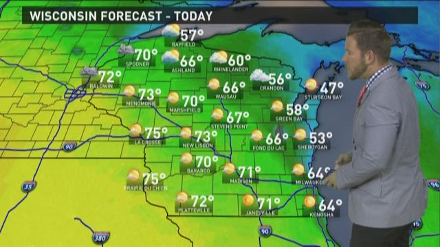 Wisconsin weather forecast for Wednesday, April 1