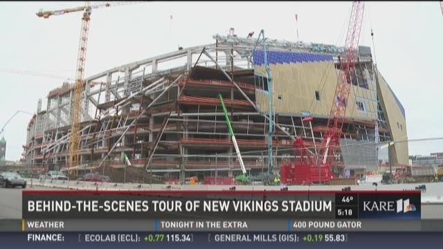 Behind-the-scenes tour of new Vikings stadium