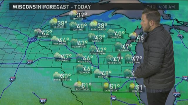 Wisconsin weather forecast for Tuesday, April 21