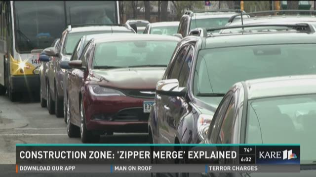 Construction zone: 'Zipper merge' explained