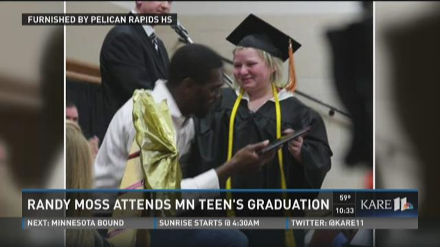 Randy Moss attends MN teen's graduation