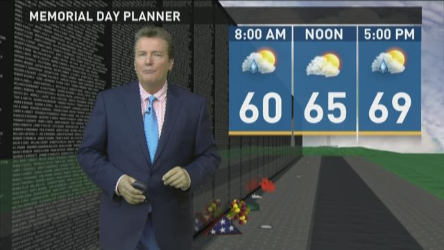 Late morning weather forecast 5-25-2015