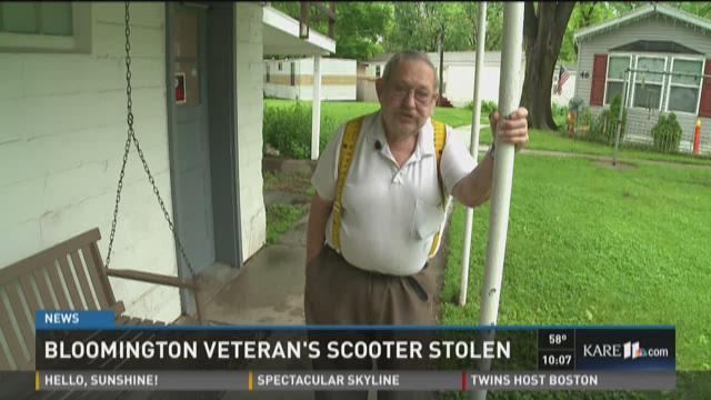 Bloomington veteran's scooter stolen