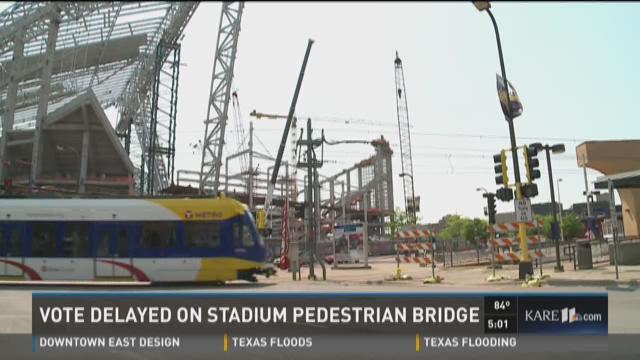 Vote delayed on stadium pedestrian bridge