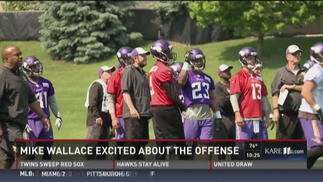 Vikings wide receiver excited about team's offense