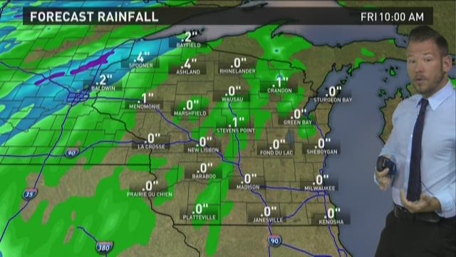 Wisconsin weather forecast for Thursday, May 28