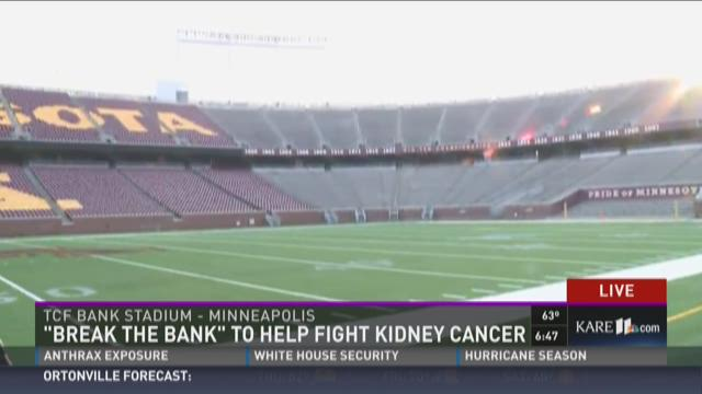 'Break the Bank' to help fight kidney cancer