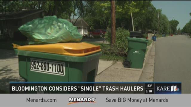 Bloomington considers 'single' trash haulers