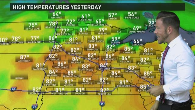 Late morning weather forecast 5-29-2015