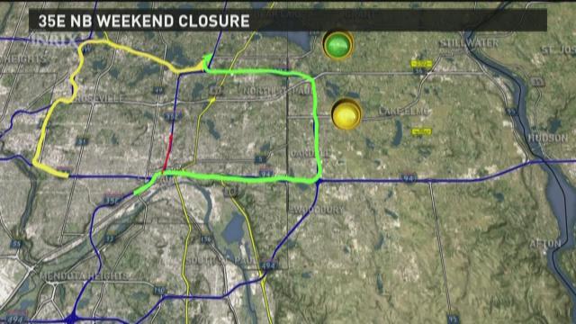 Weekend traffic closures 5-29-2015