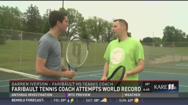 Faribault tennis coach attempts world record