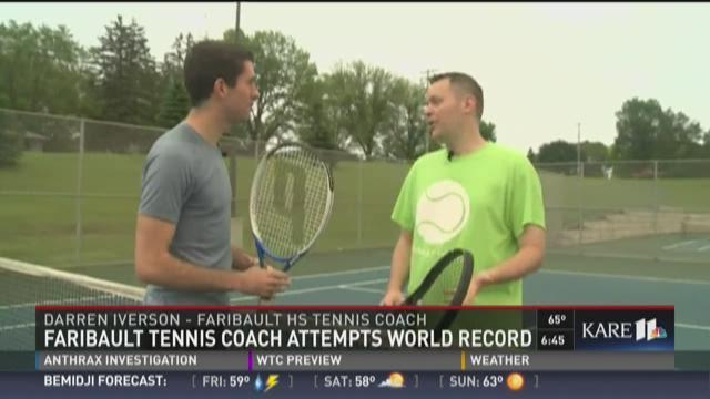 Faribault tennis coach attempts world record