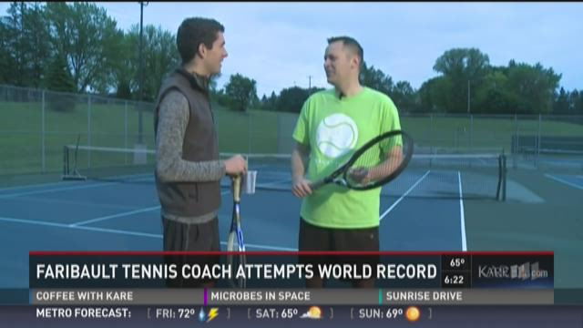 Faribault coach attempts tennis world record