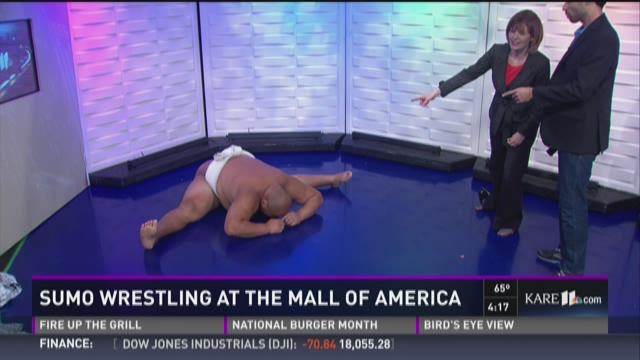 Sumo wrestling at the Mall of America