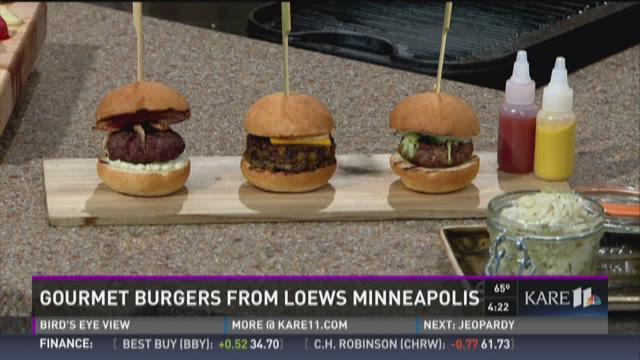 Gourmet burgers from Loews Minneapolis