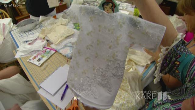 Golden Valley grandmother turns wedding dresses into angel gowns for grieving parents