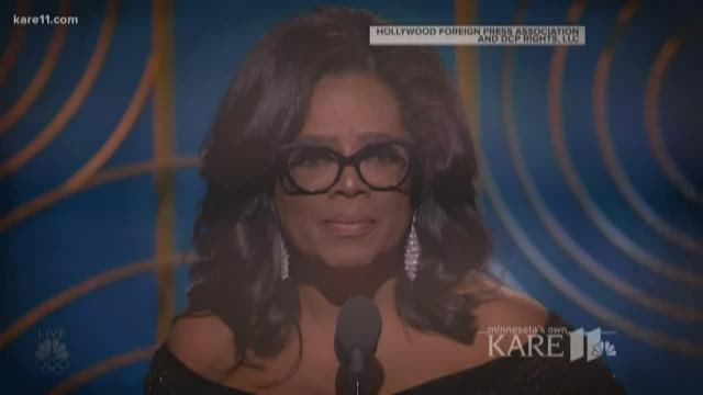 Winfrey's Globes speech creates buzz about 2020 prez run
