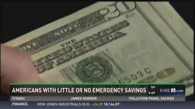 Americans with little or no emergency savings