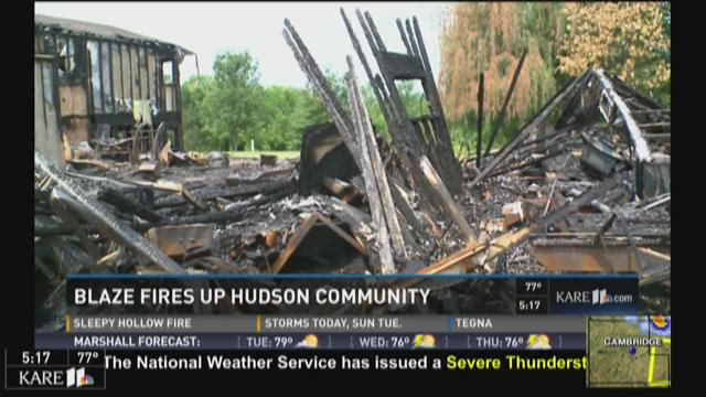 Blaze fires up Hudson community
