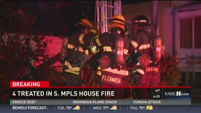 Several injured in south Minneapolis house fire