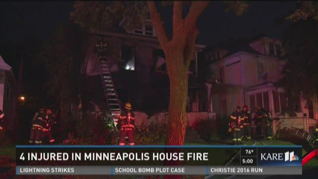 4 injured in Minneapolis house fire